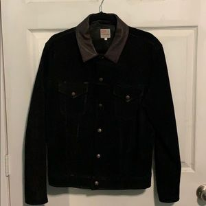 Levi's Vintage Clothing Trucker Suede/Leather; L